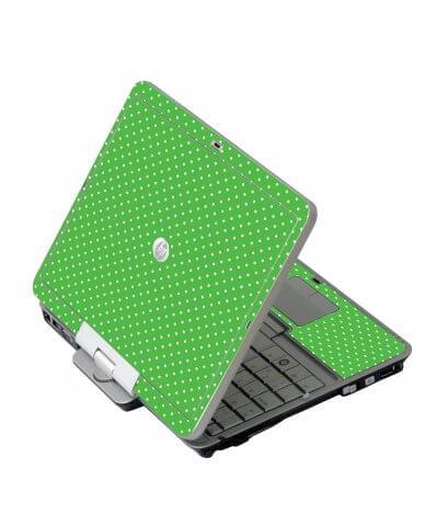 Kelly Green Polka HP EliteBook 2730P Laptop Skin