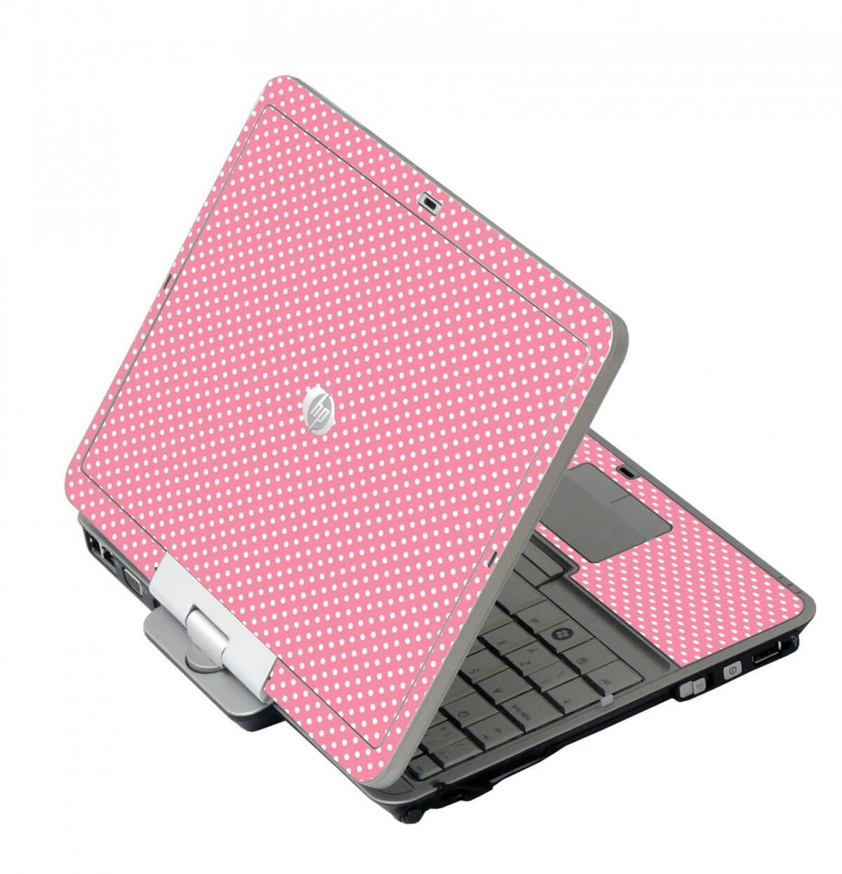 Retro Salmon Polka HP EliteBook 2730P Laptop Skin