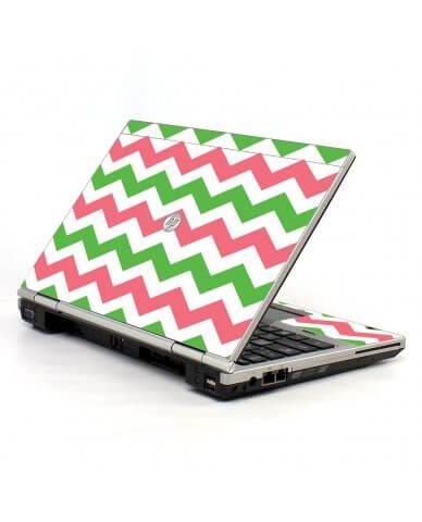 Green Pink Chevron 2570P Laptop Skin