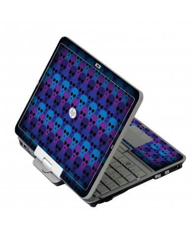 Blue Skulls HP 2760P Laptop Skin