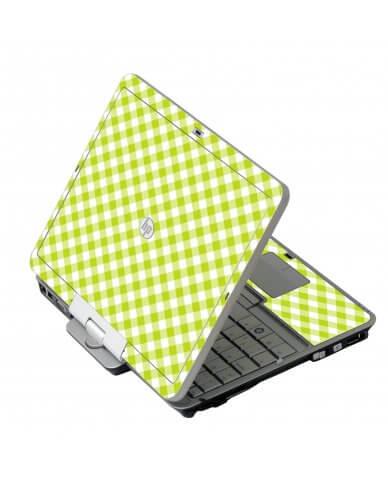 Green Checkered HP 2760P Laptop Skin