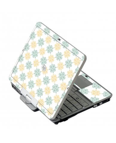 Yellow Green Flowers HP 2760P Laptop Skin
