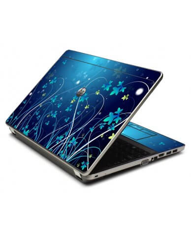 Blue Flowers 4535S Laptop Skin