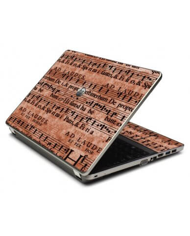 Latin Sheet Music 4535S Laptop Skin