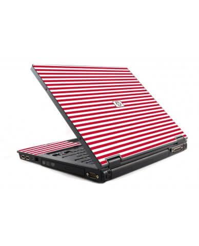 Red Stripes 6510B Laptop Skin