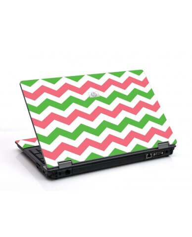 Green Pink Chevron 6530B Laptop Skin