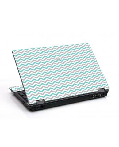 Teal Grey Chevron Waves 6530B Laptop Skin