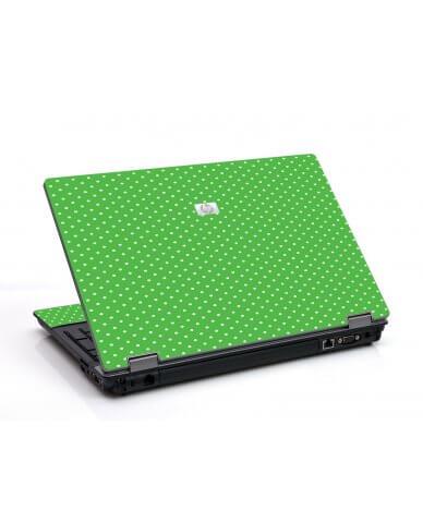 Kelly Green Polka 6550B Laptop Skin