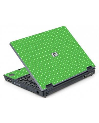 Kelly Green Polka 6710B Laptop Skin