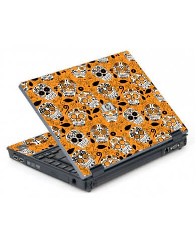 Orange Sugar Skulls 6710B Laptop Skin