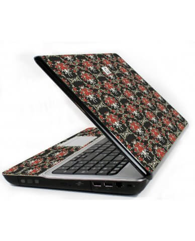 Flower Black Versailles 6720S Laptop Skin