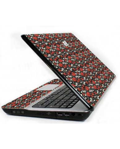 Black Red Roses 6720S Laptop Skin