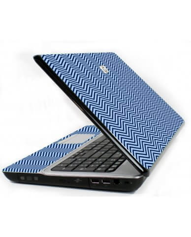 Blue On Blue Chevron 6720S Laptop Skin