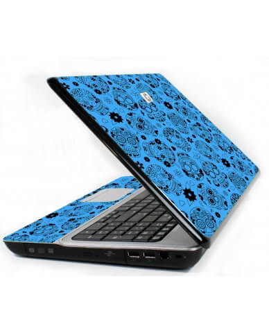 Crazy Blue Sugar Skulls 6720S Laptop Skin