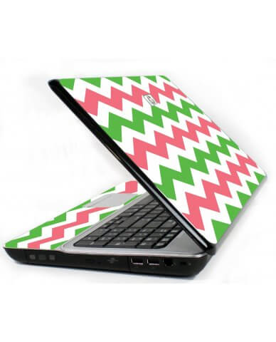 Green Pink Chevron 6720S Laptop Skin