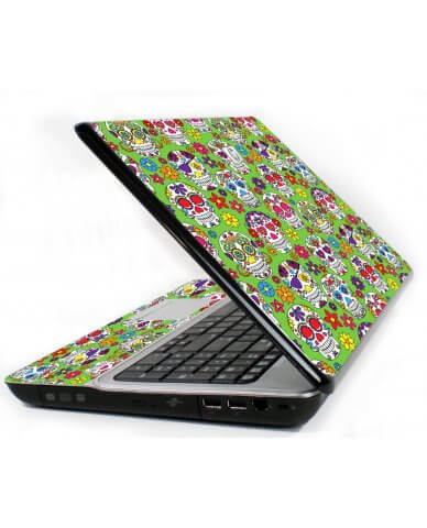 Green Sugar Skulls 6720S Laptop Skin
