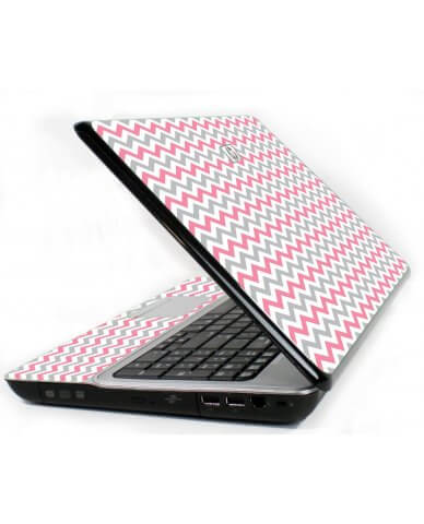 Pink Grey Chevron Waves 6720S Laptop Skin