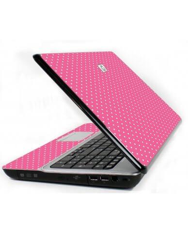 Pink Polka Dot 6720S Laptop Skin