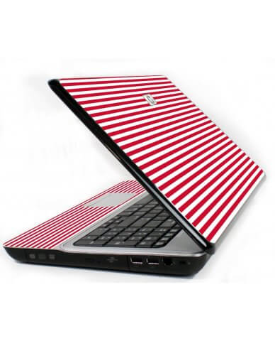 Red Stripes 6720S Laptop Skin