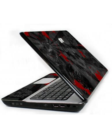 Black Skulls Red 6730S Laptop Skin