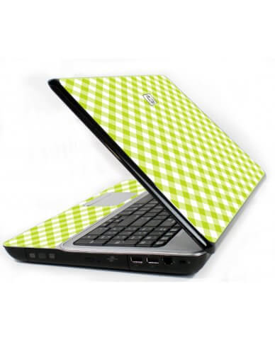 Green Checkered 6730S Laptop Skin