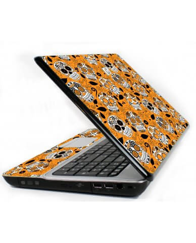 Orange Sugar Skulls 6730S Laptop Skin
