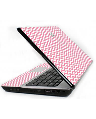 Pink Chevron Waves 6730S Laptop Skin
