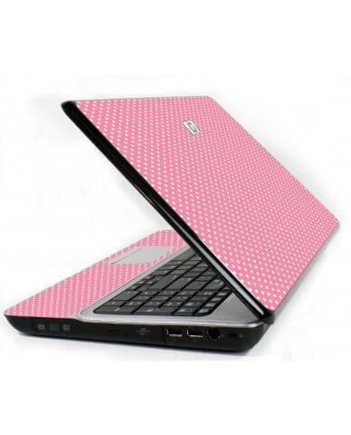 Retro Salmon Polka Dot 6730S Laptop Skin