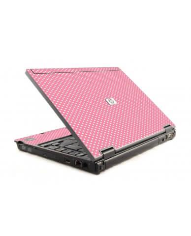 Retro Salmon Polka 6030P Laptop Skin