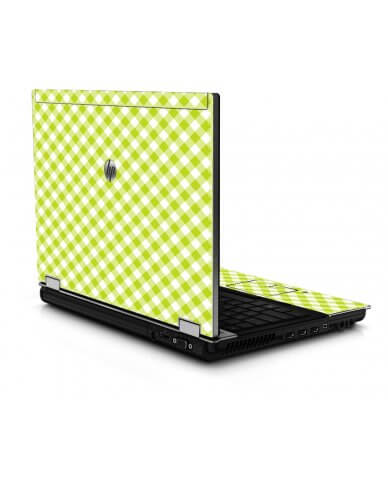 Green Checkered 8440P Laptop Skin