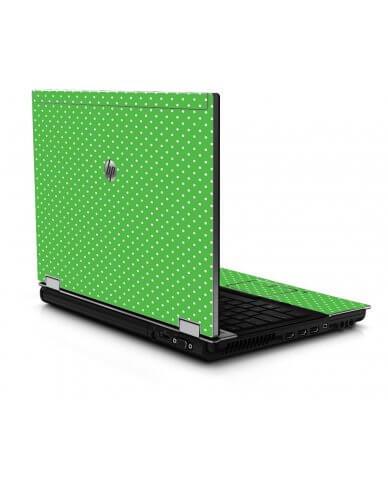 Kelly Green Polka 8440P Laptop Skin