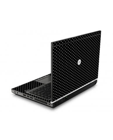 Black Polka Dots HP8460P Laptop Skin