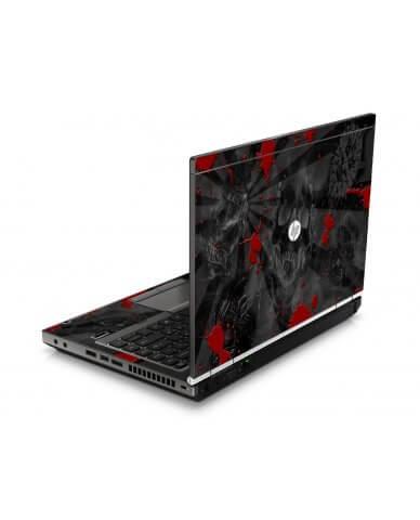 Black Skull Red HP8460P Laptop Skin