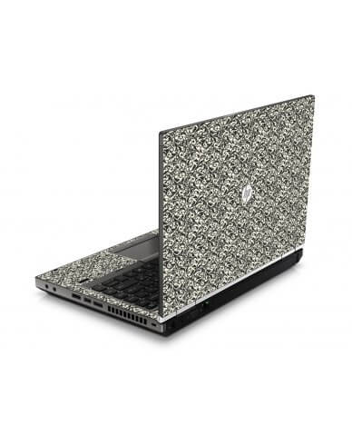 Black Versailles HP8460P Laptop Skin