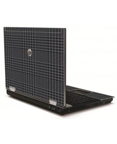 Black Plaid HP 8540W Laptop Skin