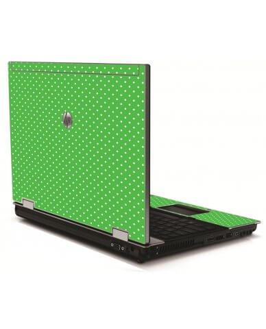 Kelly Green Polka HP 8540W Laptop Skin