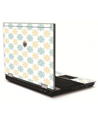 Yellow Green Flowers HP 8540W Laptop Skin