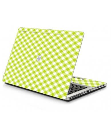 Green Checkered HP 9470M Laptop Skin