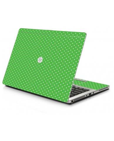 Kelly Green Polka HP 9470M Laptop Skin