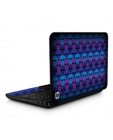 Blue Skulls HPG6 Laptop Skin