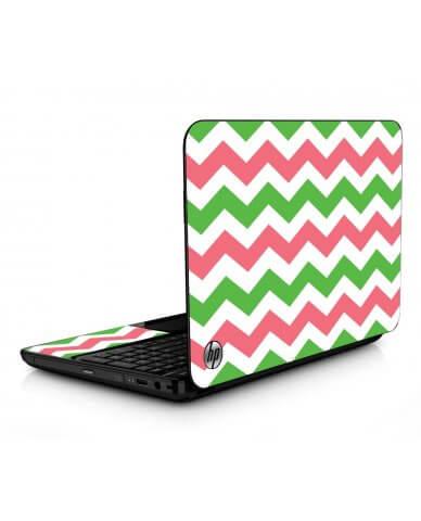 Green Pink Chevron HPG6 Laptop Skin