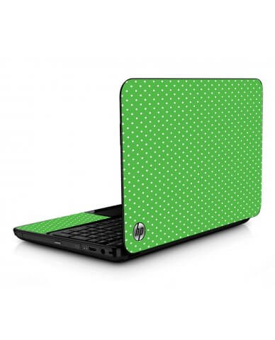 Kelly Green Polka HPG6 Laptop Skin