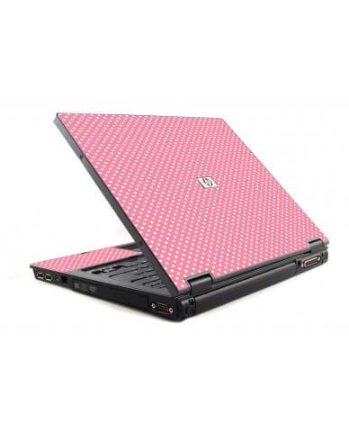 Retro Salmon Polka 6510B Laptop Skin