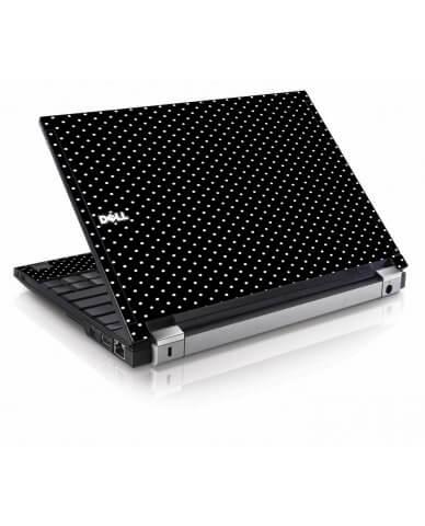 Black Polka Dots Dell E4200 Laptop Skin