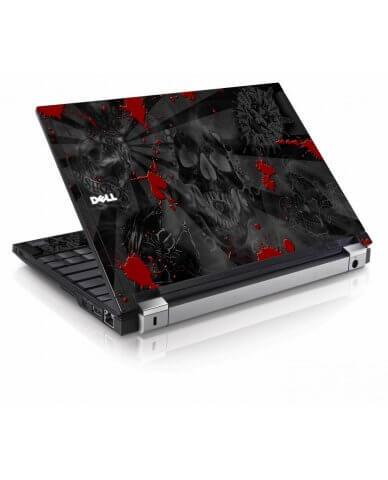 Black Skulls Red Dell E4200 Laptop Skin
