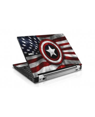 Capt America Flag Dell E4300 Laptop Skin