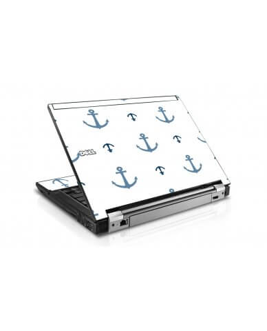 Multi Blue Anchors Dell E4300 Laptop Skin