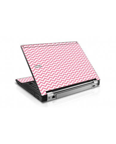 Pink Chevron Waves Dell E4300 Laptop Skin