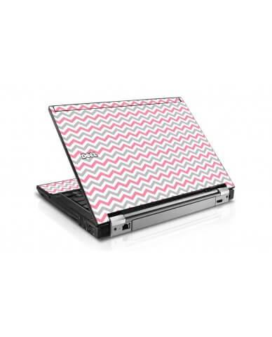 Pink Grey Chevron Waves Dell E4310 Laptop Skin