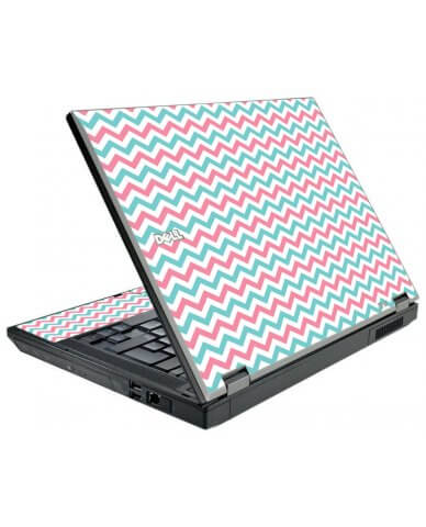 Pink Teal Chevron Waves Dell E5510 Laptop Skin